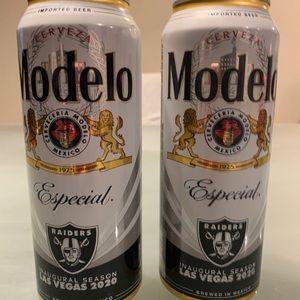 2 Modelo Cerveza Las Vegas Raiders Inaugural 2020